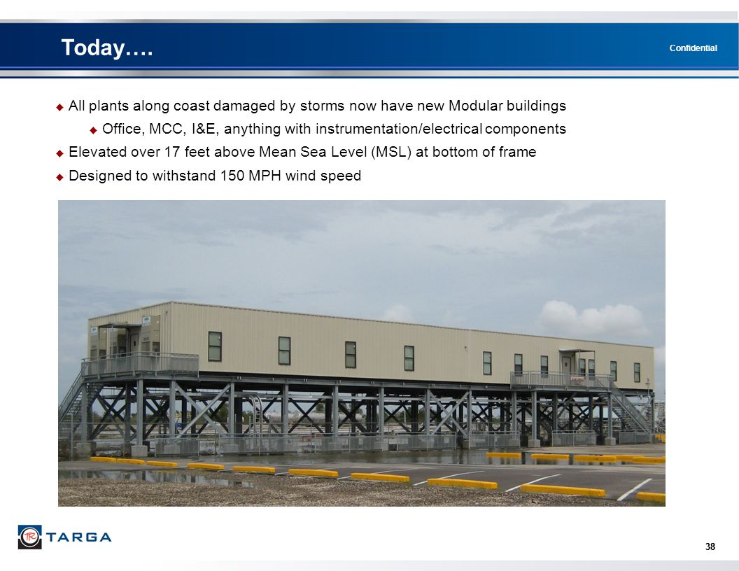 Today…. All plants along coast damaged by storms now have new Modular buildings.