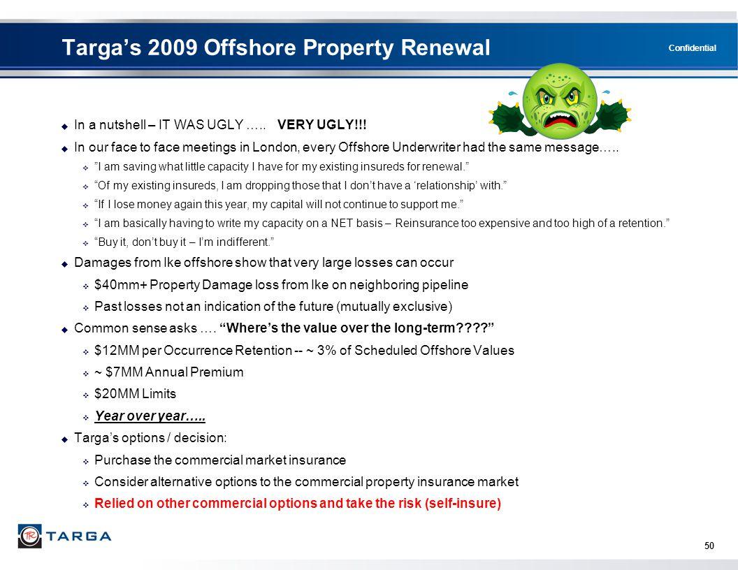 Targa's 2009 Offshore Property Renewal