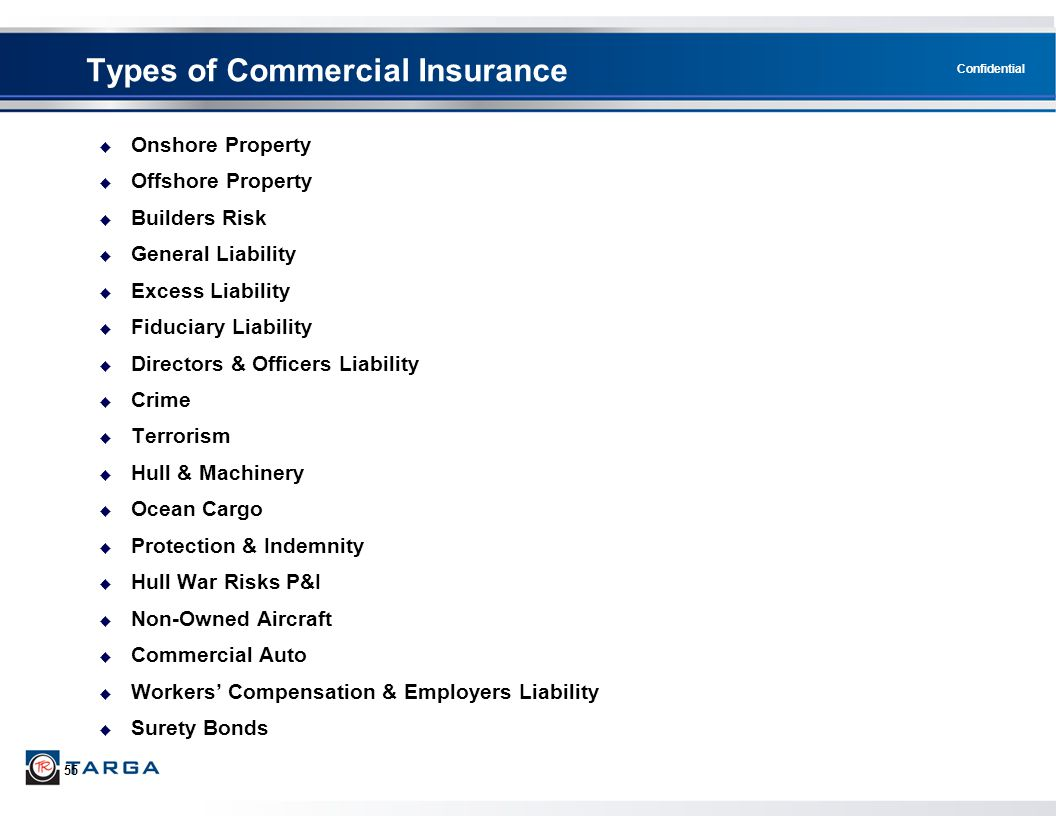 Types of Commercial Insurance