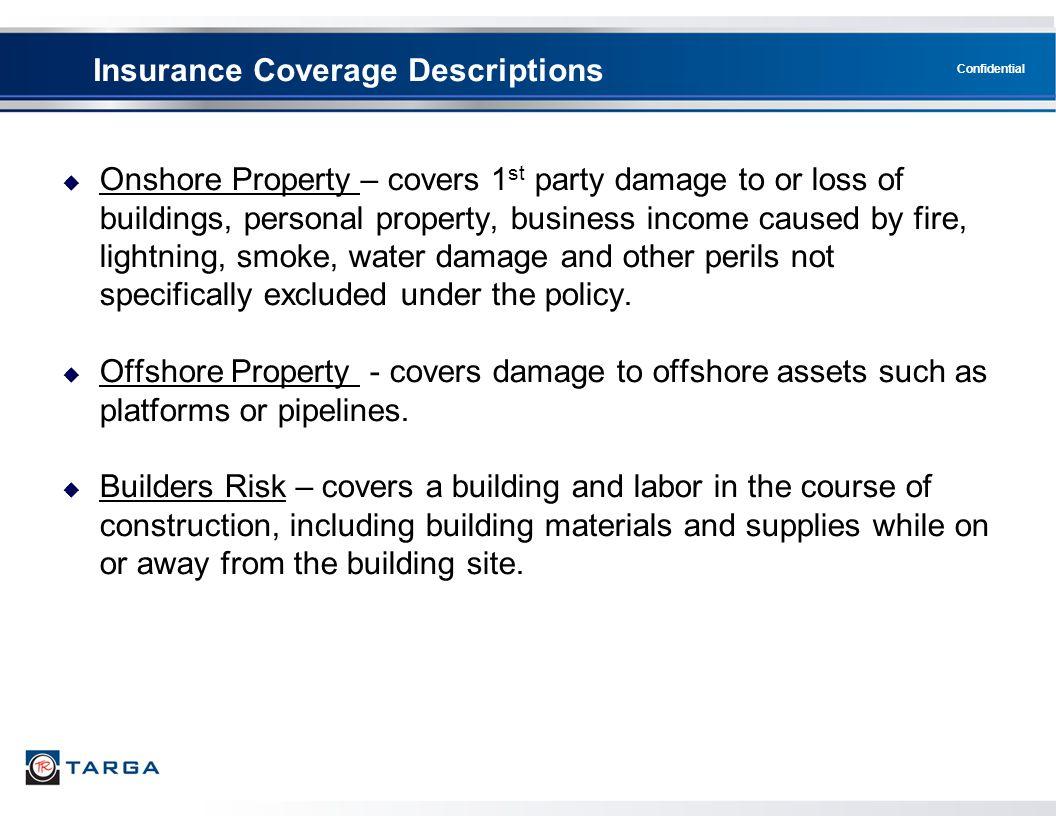 Insurance Coverage Descriptions