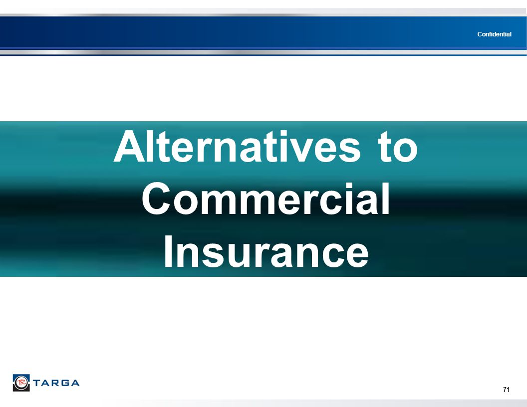 Alternatives to Commercial Insurance
