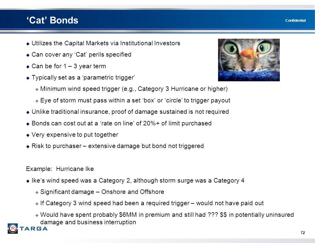 'Cat' Bonds Utilizes the Capital Markets via Institutional Investors