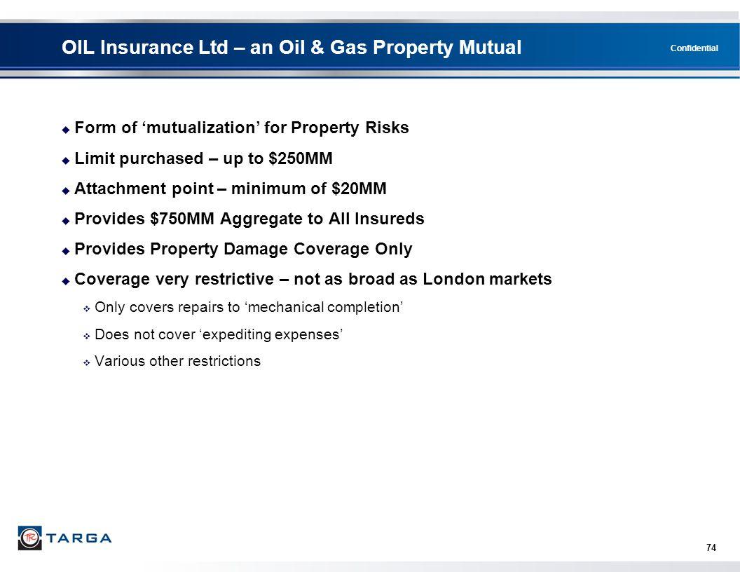 OIL Insurance Ltd – an Oil & Gas Property Mutual