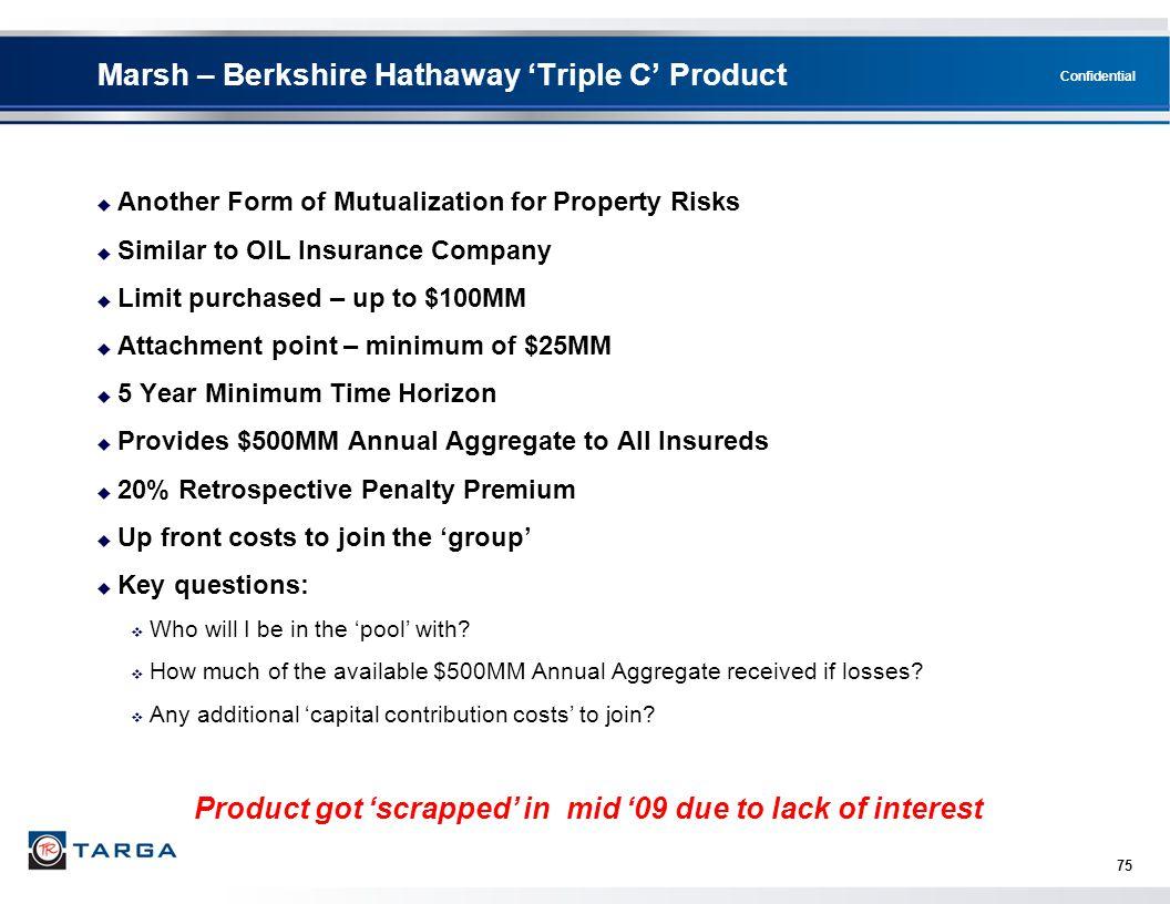Marsh – Berkshire Hathaway 'Triple C' Product