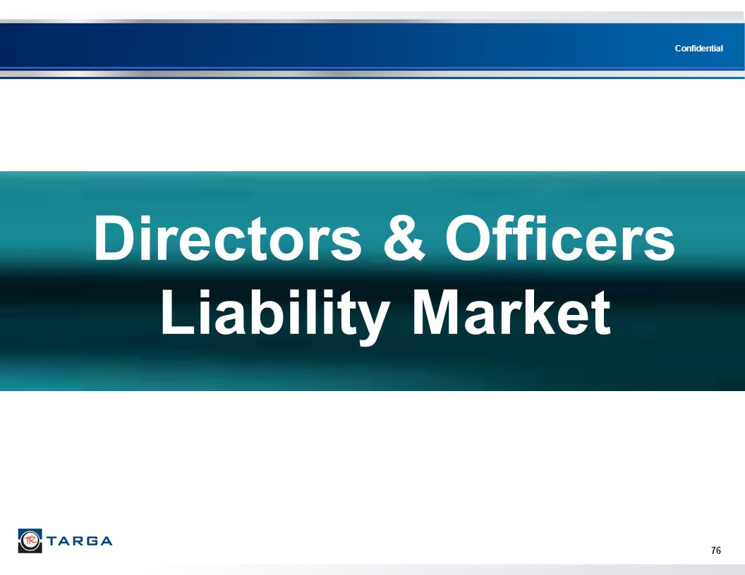 Directors & Officers Liability Market