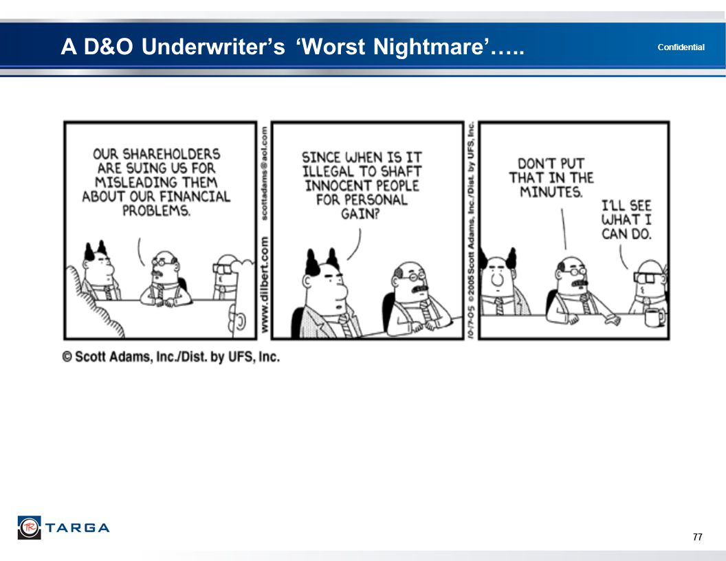 A D&O Underwriter's 'Worst Nightmare'…..