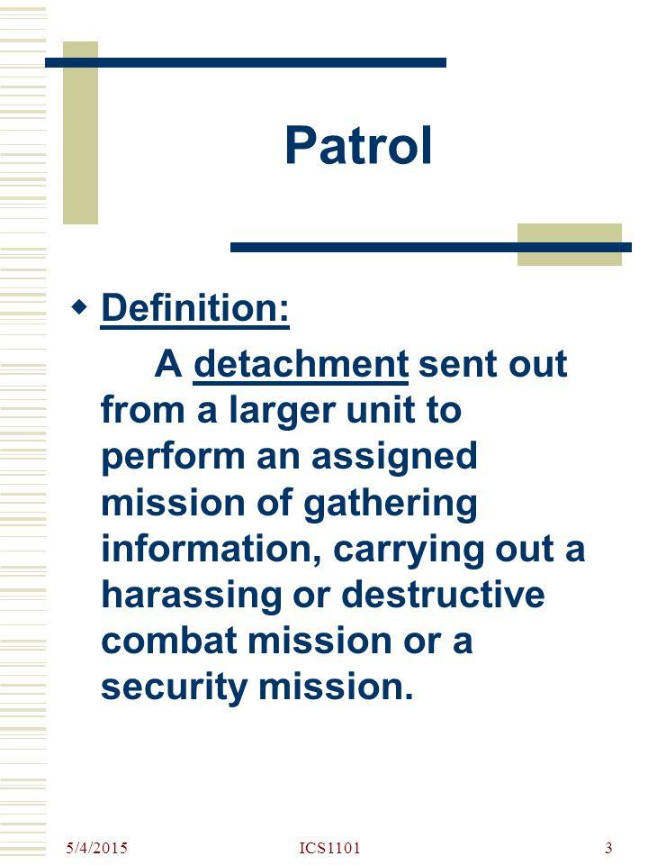 Patrol Definition: