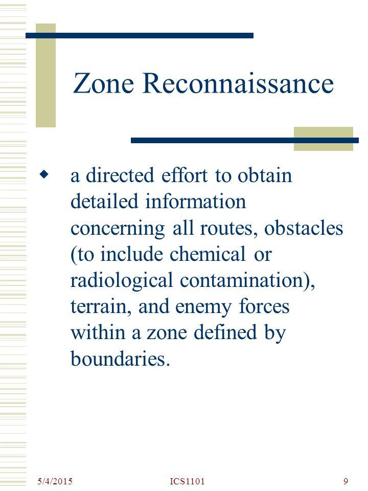 Zone Reconnaissance