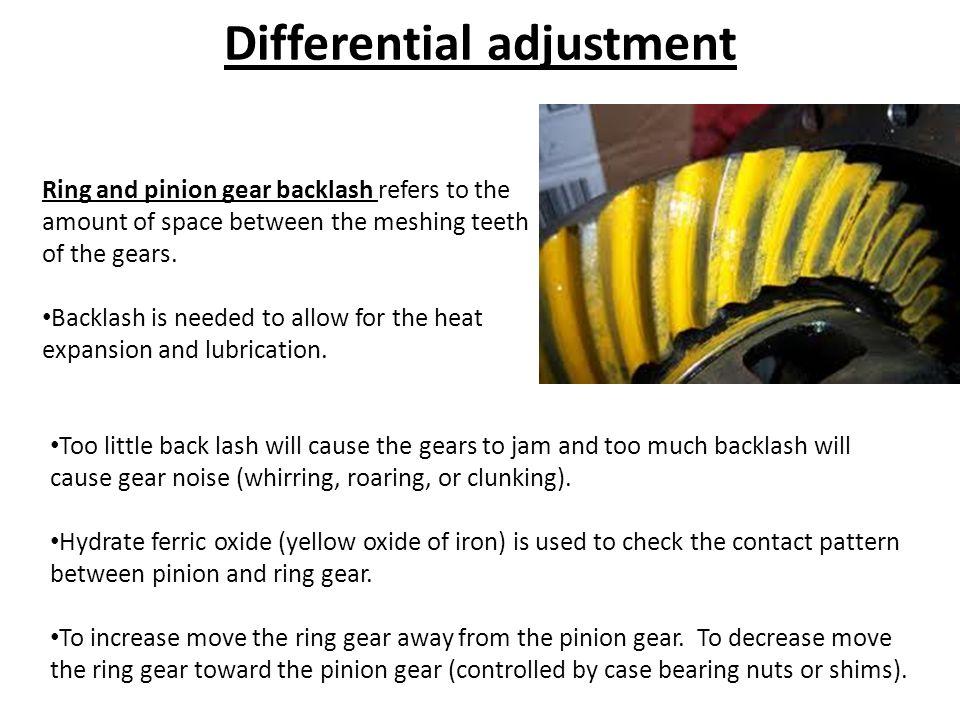Differential adjustment