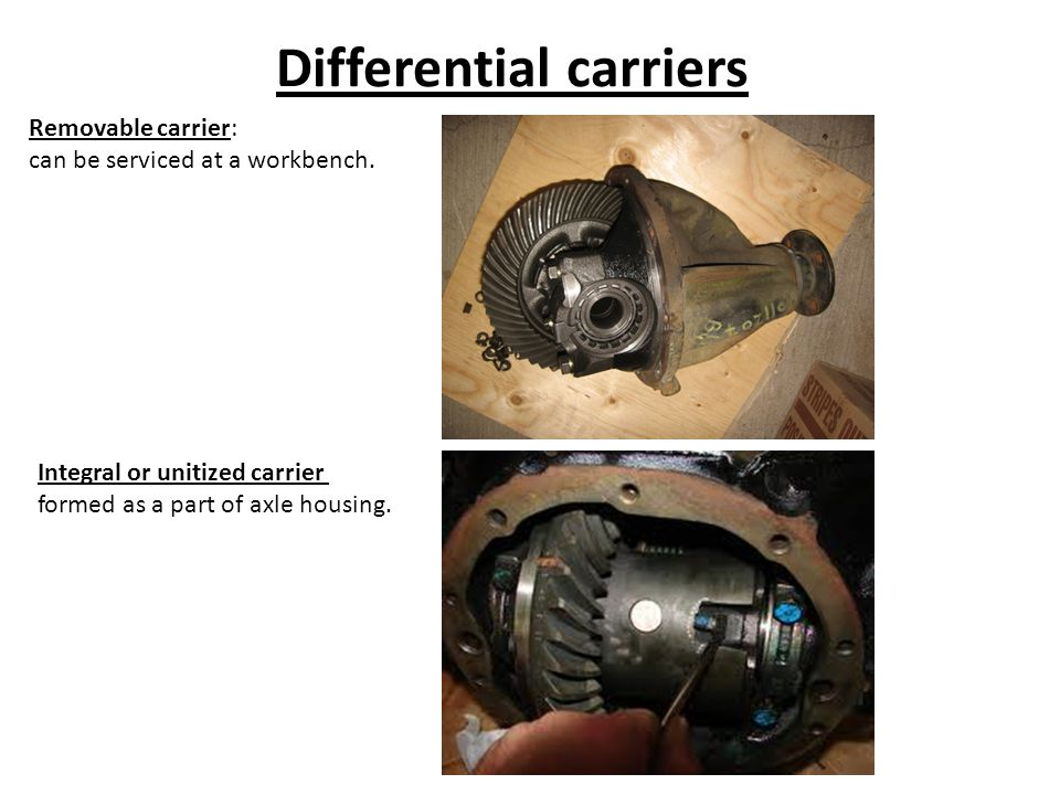 Differential carriers