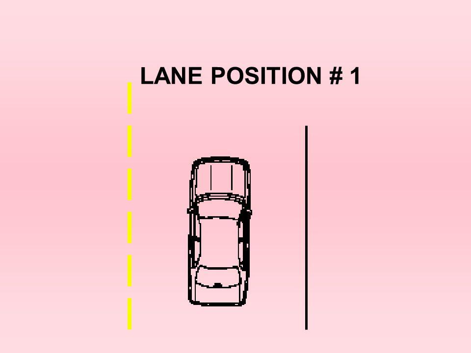 LANE POSITION # 1 20