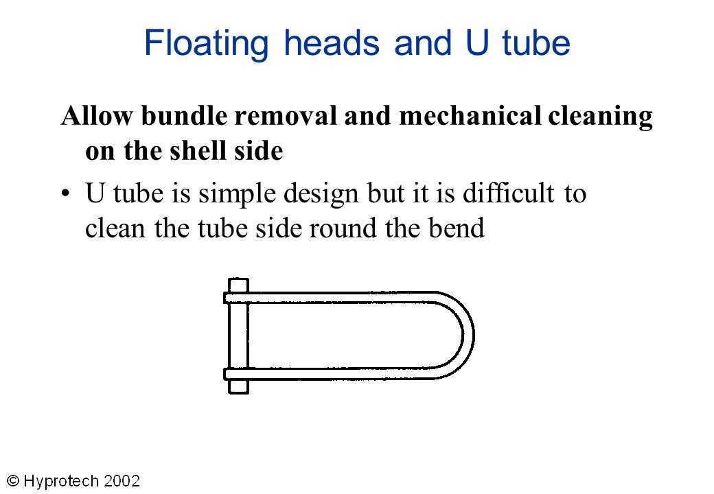 Floating heads and U tube