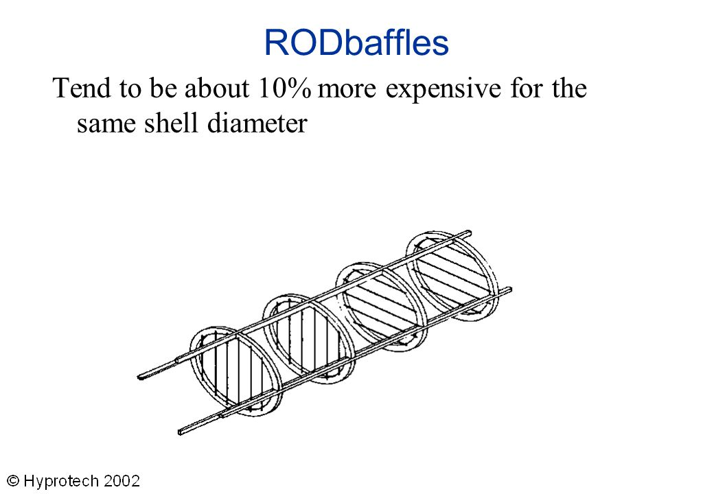 RODbaffles Tend to be about 10% more expensive for the same shell diameter.