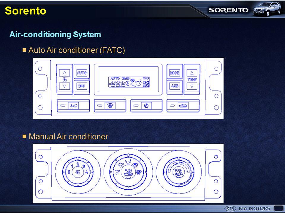 Sorento Air-conditioning System ■ Auto Air conditioner (FATC)