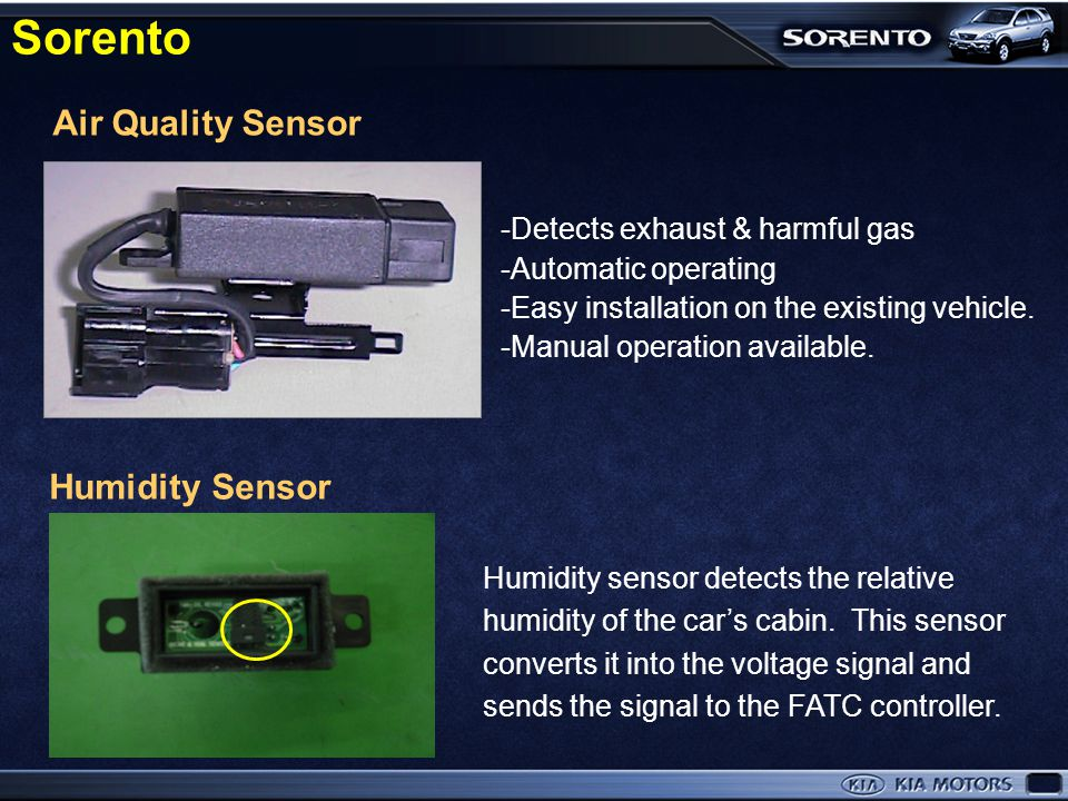 Sorento Air Quality Sensor Humidity Sensor