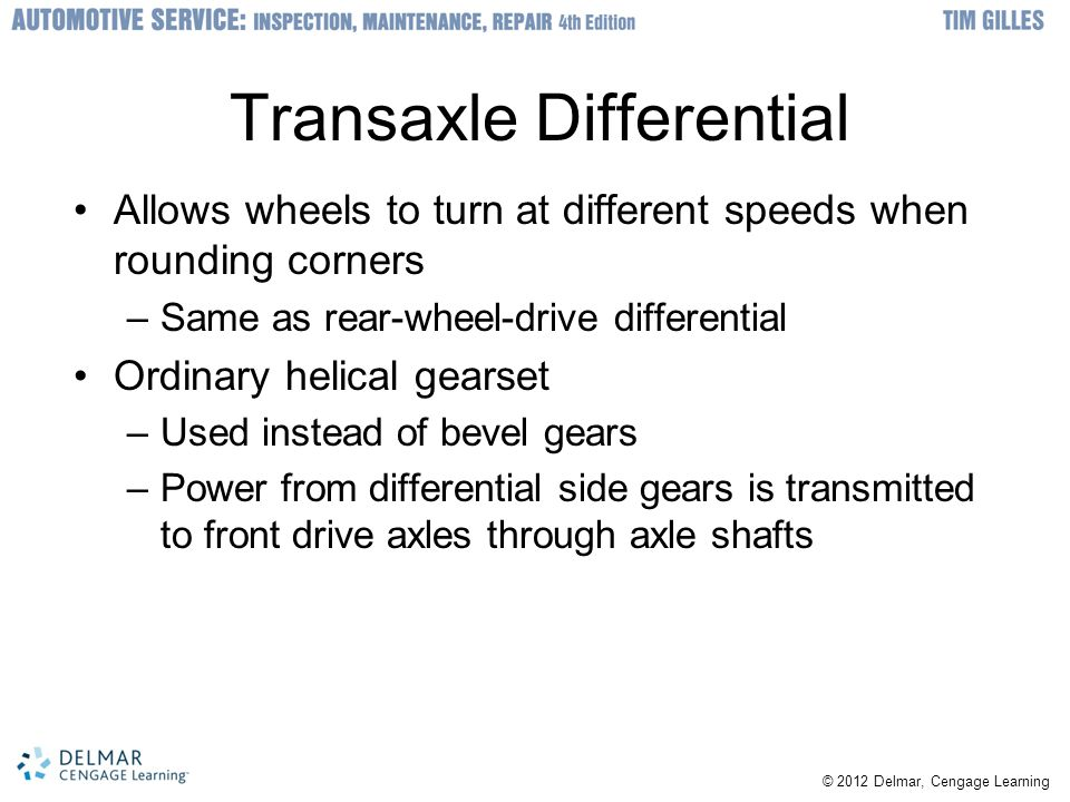 Transaxle Differential