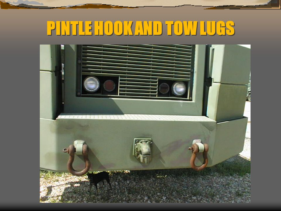 PINTLE HOOK AND TOW LUGS