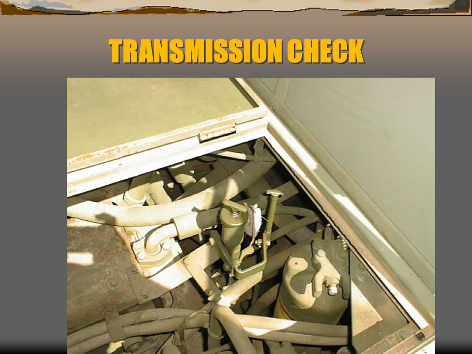 TRANSMISSION CHECK