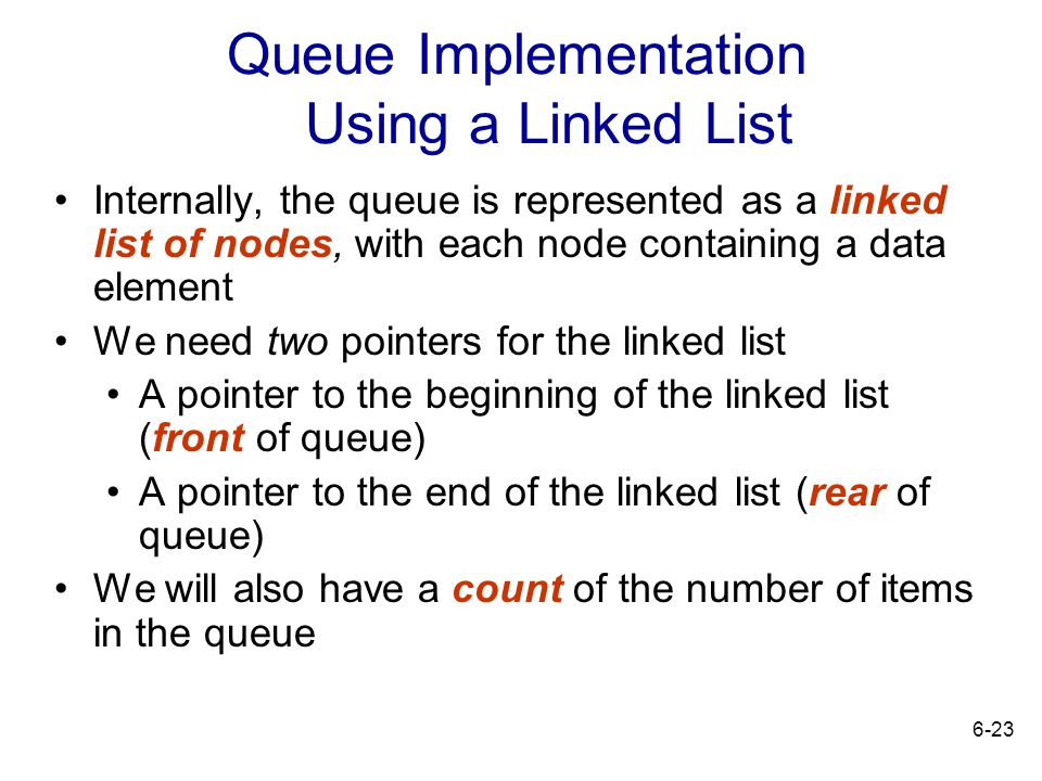 Queue Implementation Using a Linked List