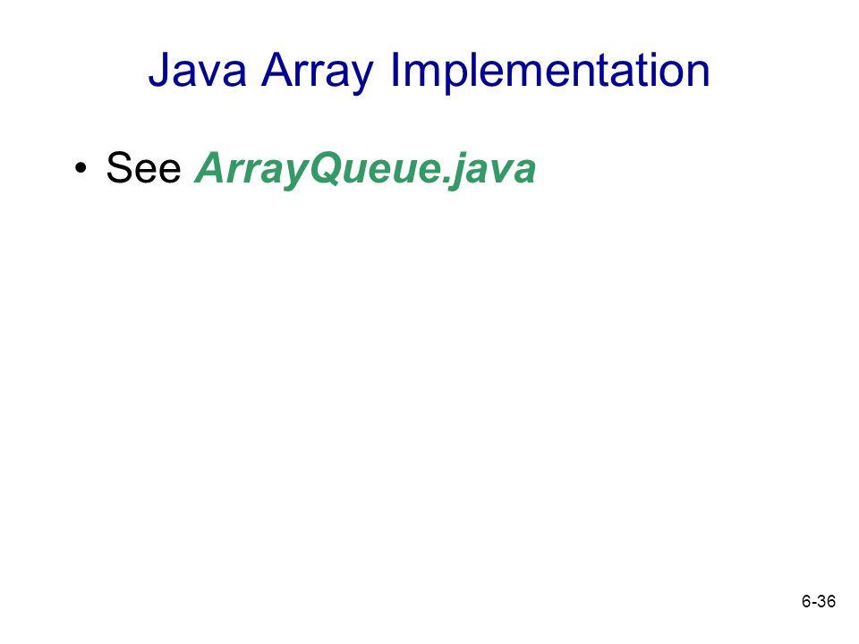 Java Array Implementation