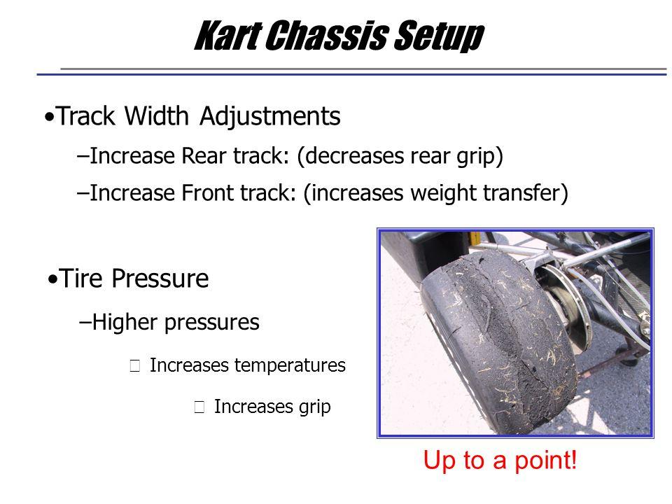 Kart Chassis Setup Track Width Adjustments Tire Pressure