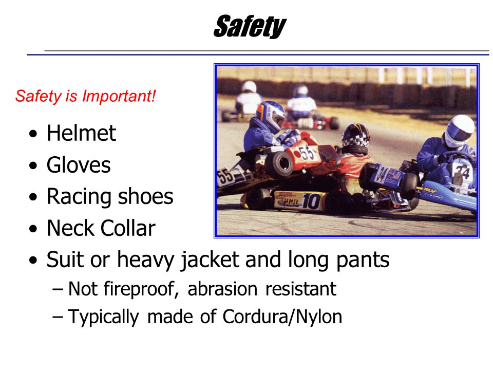 Safety Helmet Gloves Racing shoes Neck Collar