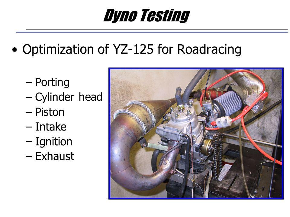 Dyno Testing Optimization of YZ-125 for Roadracing Porting