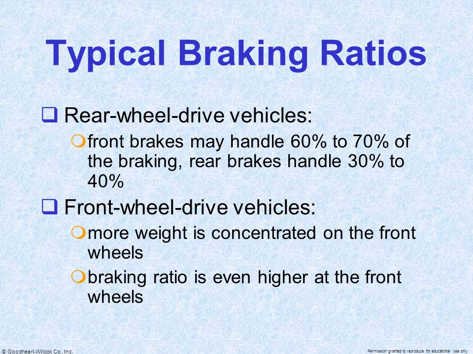 Typical Braking Ratios