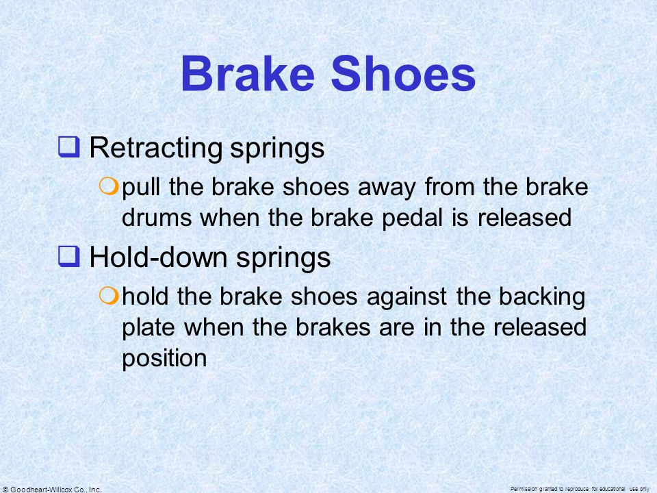 Brake Shoes Retracting springs Hold-down springs