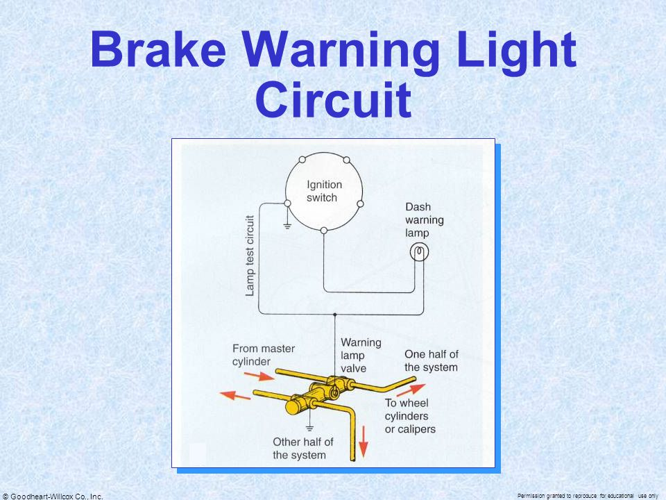 Brake Warning Light Circuit