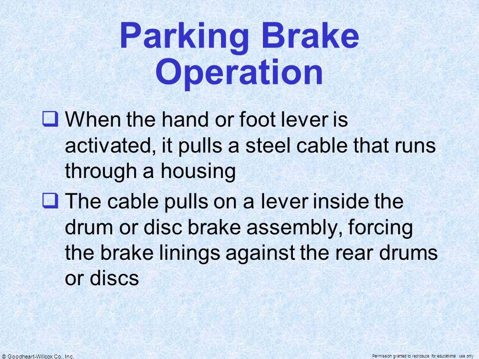 Parking Brake Operation