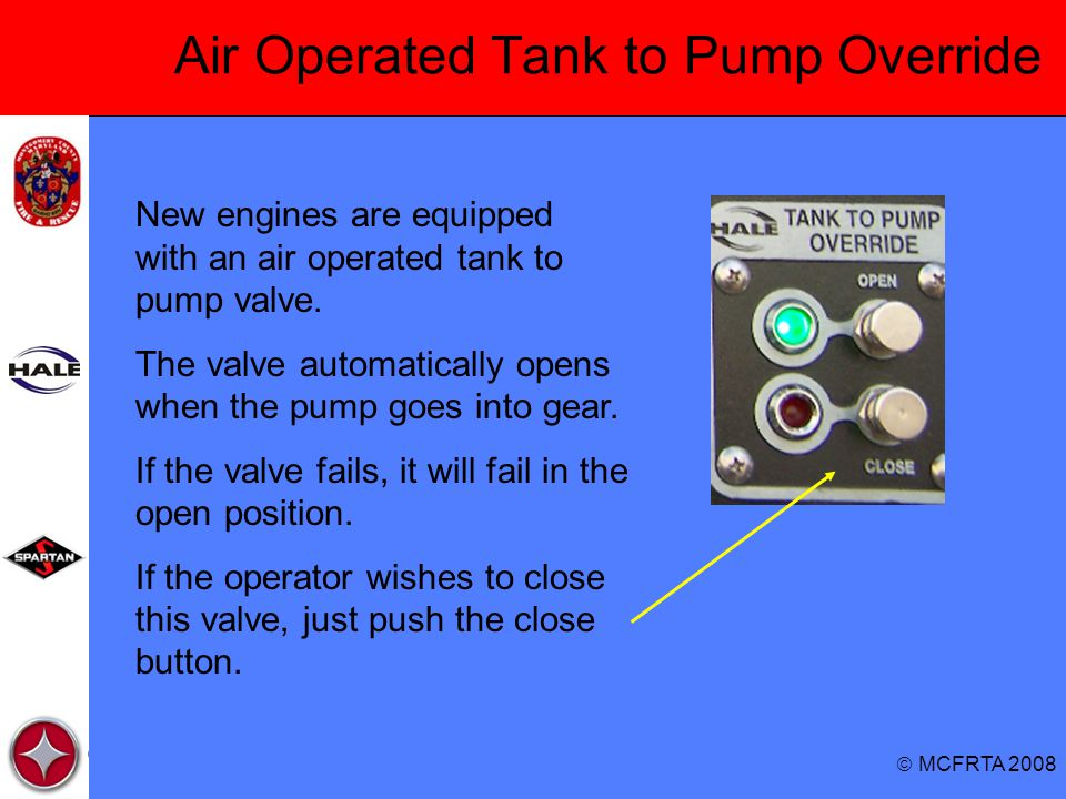 Air Operated Tank to Pump Override