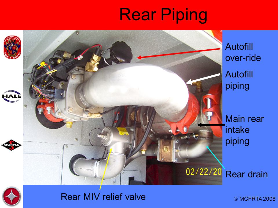 Rear Piping Autofill over-ride Autofill piping Main rear intake piping