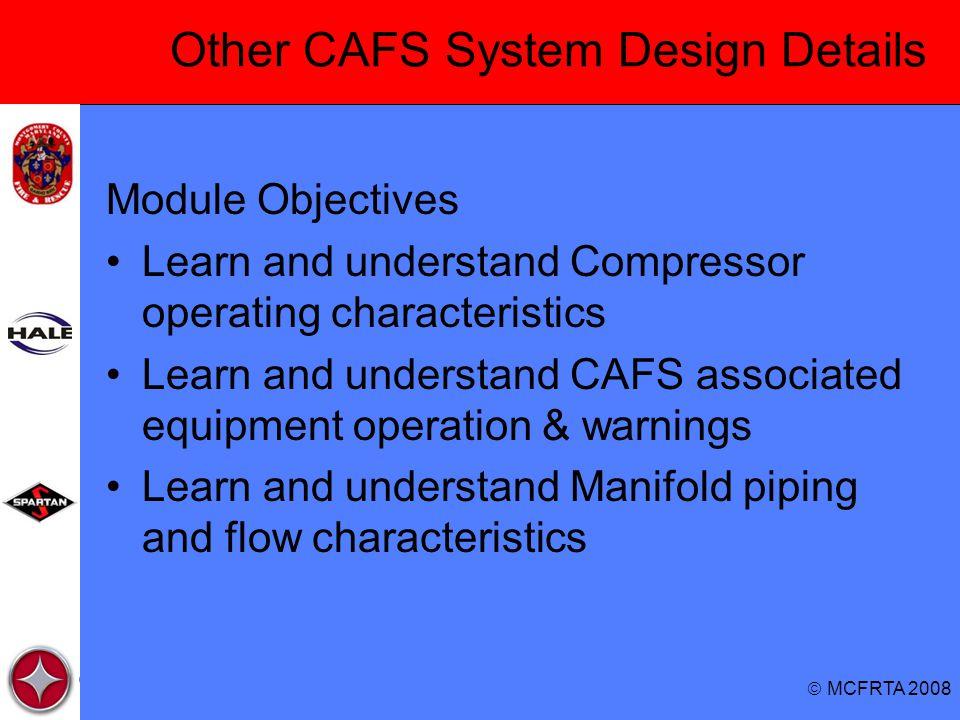 Other CAFS System Design Details