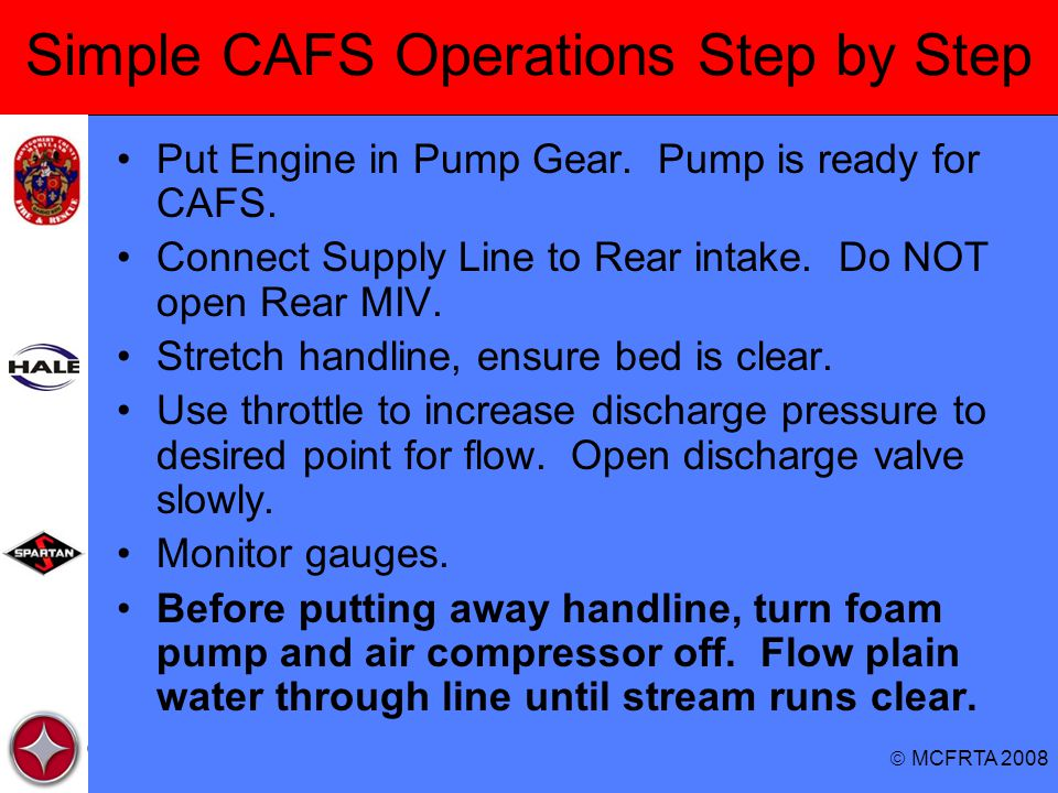 Simple CAFS Operations Step by Step