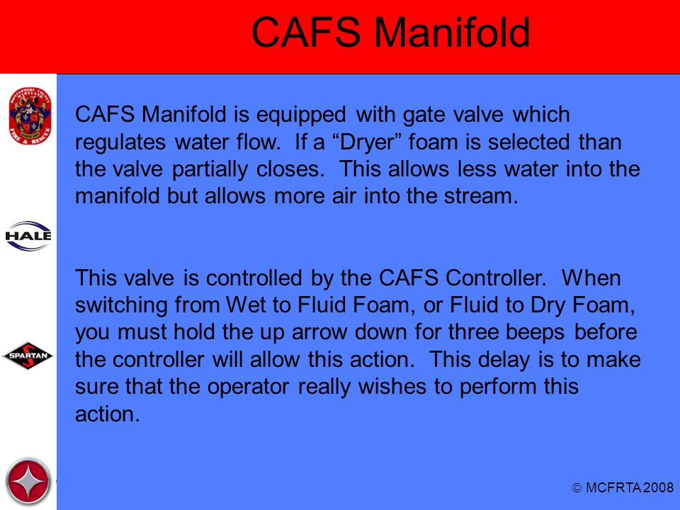 CAFS Manifold