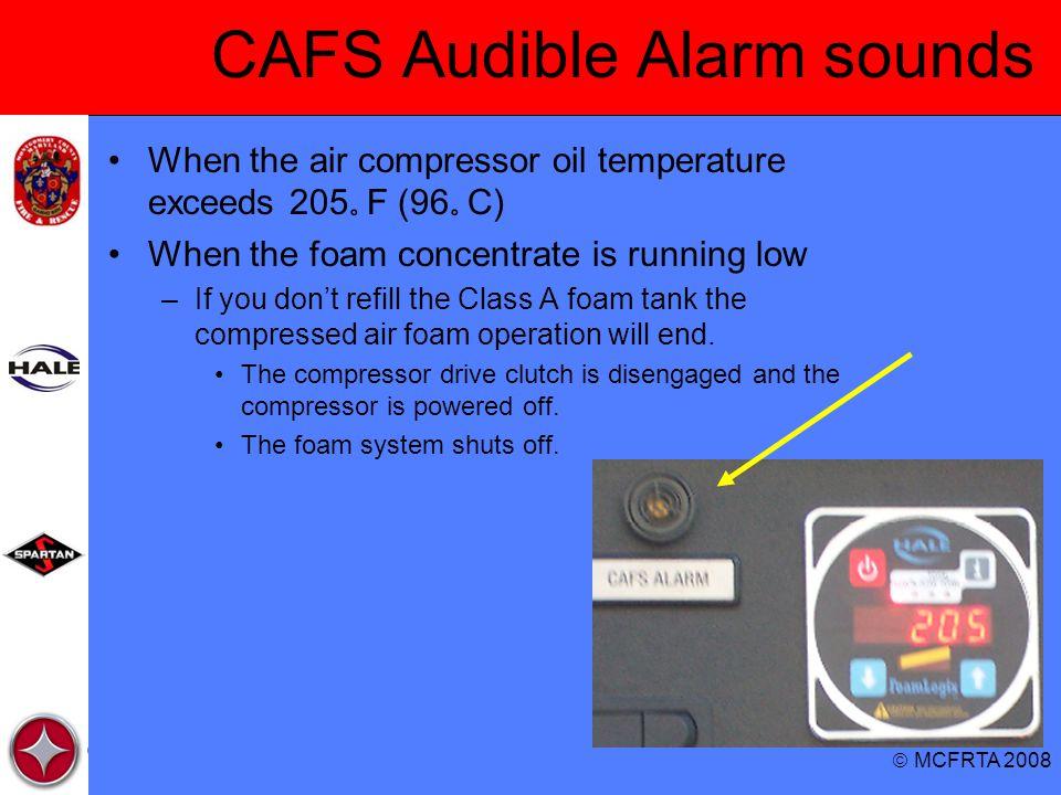 CAFS Audible Alarm sounds