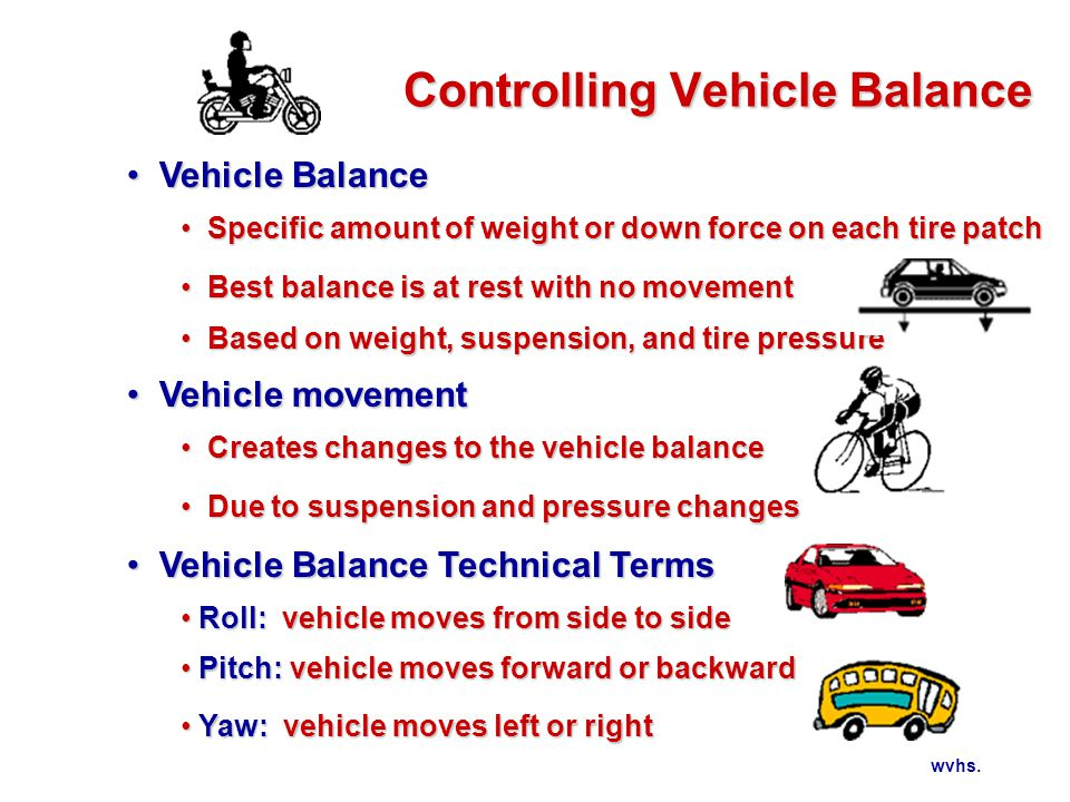 Controlling Vehicle Balance