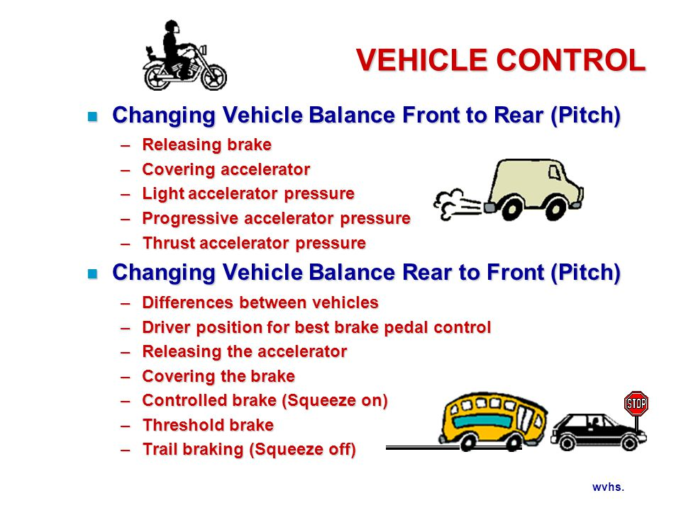 Balance Change During Sudden Braking and Excessive Steering
