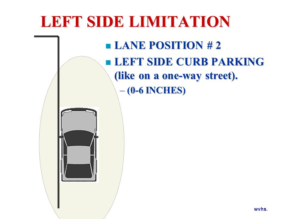 LEFT SIDE LIMITATION