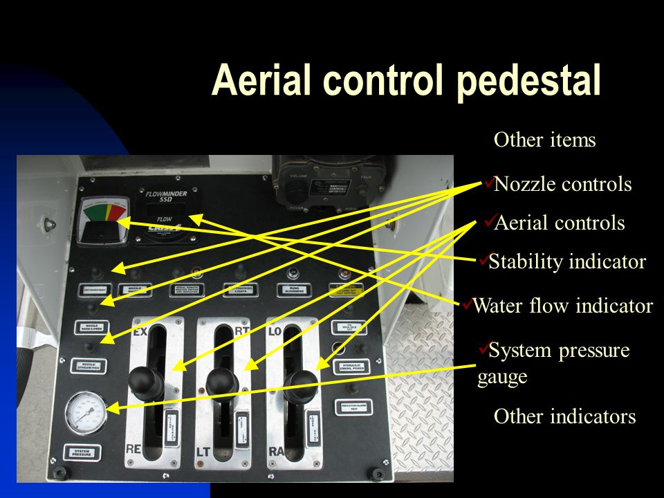 Aerial control pedestal