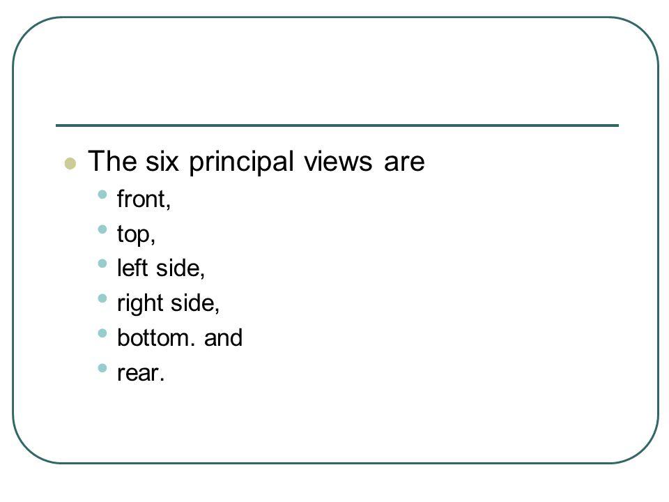 The six principal views are