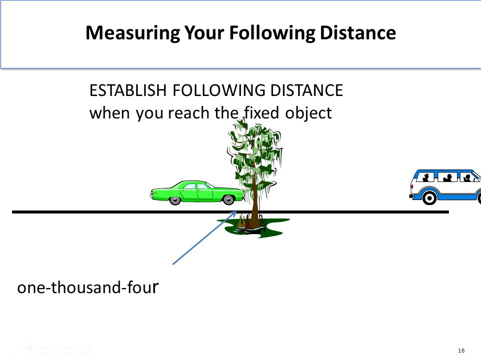 Measuring Your Following Distance