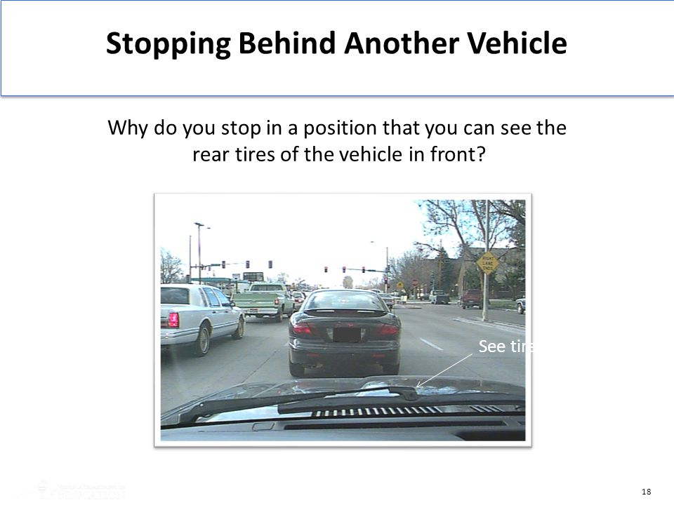 Stopping Behind Another Vehicle