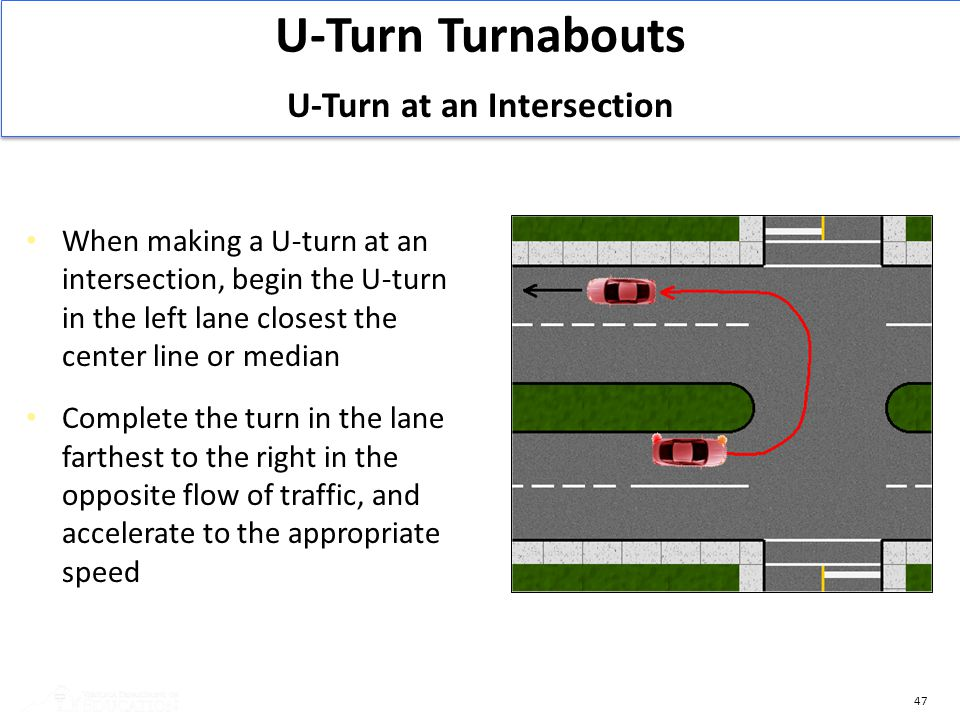 U-Turn at an Intersection