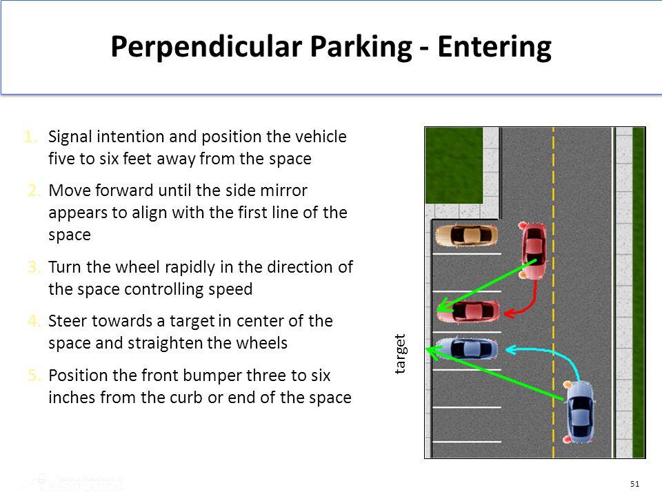 Perpendicular Parking - Entering