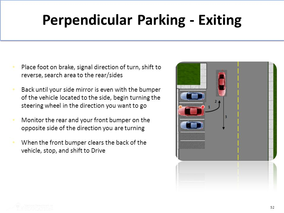 Perpendicular Parking - Exiting