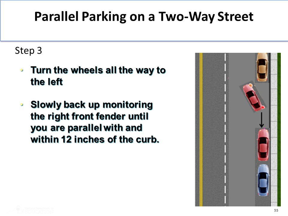 Parallel Parking on a Two-Way Street