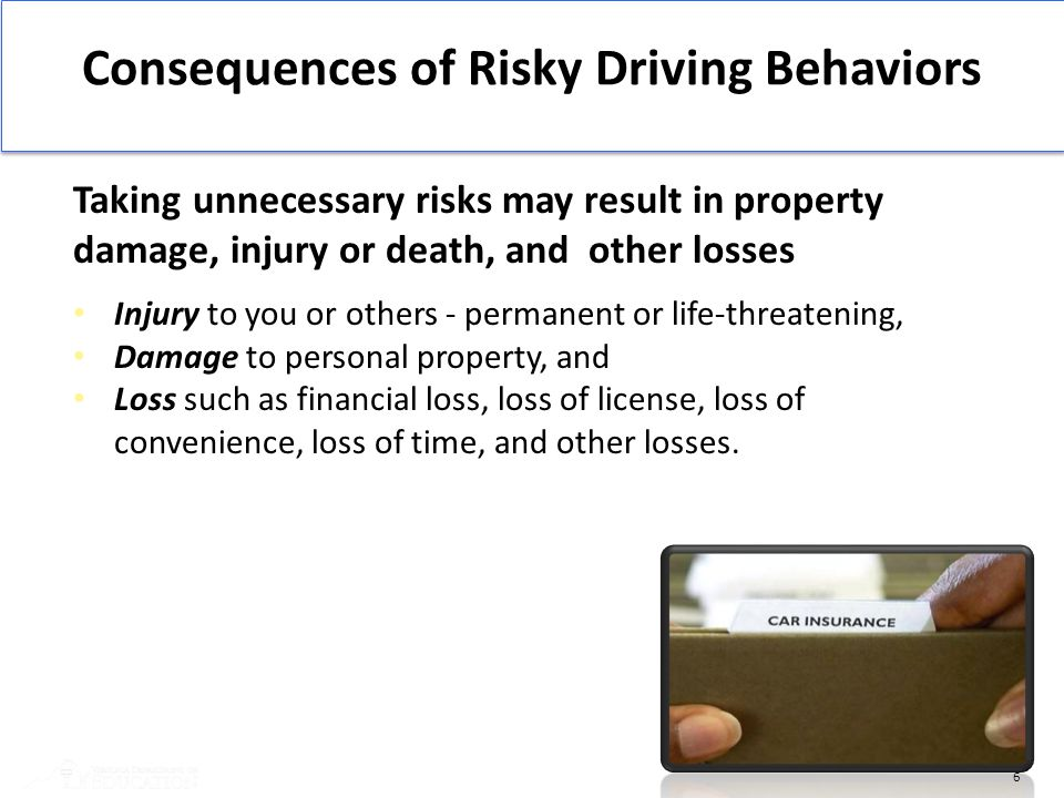 Consequences of Risky Driving Behaviors