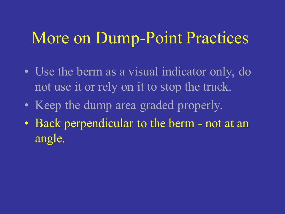 how to use a dump point